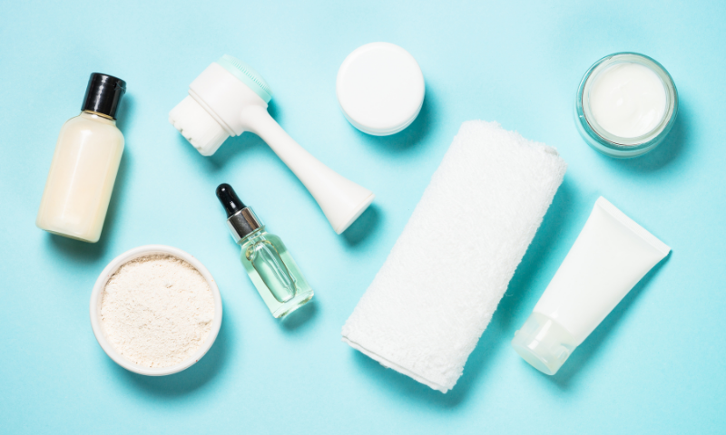 test skincare products